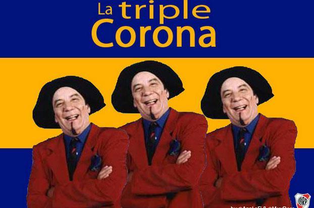 La triple corona-gastada a Boca
