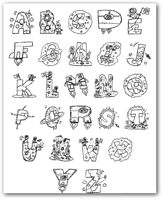 Imgenes del abecedario con dibujos de letras para imprimir  Todo
