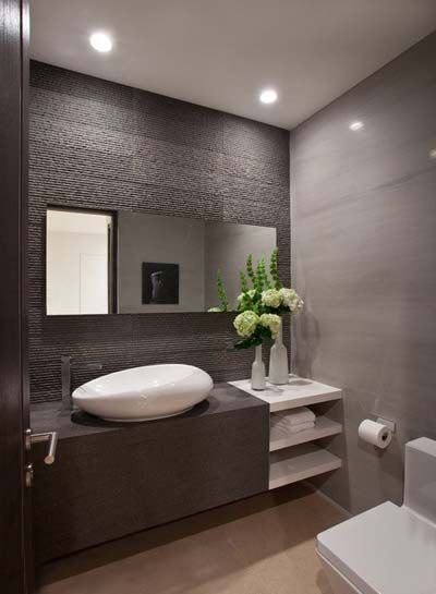 Baños Originales Fotos:Modern Powder Room Bathroom Ideas