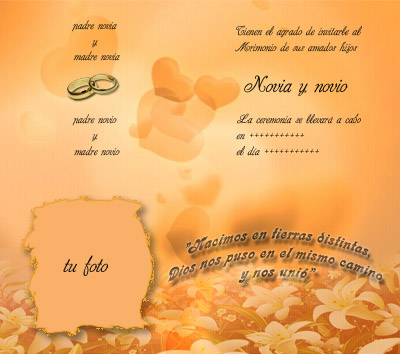 tarjetas para imprimir de casamiento