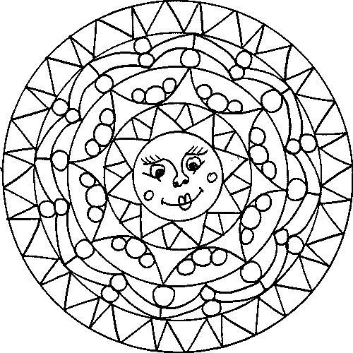 Mandalas para ni os 27 todo im genes for Imagenes de cuadros abstractos para colorear