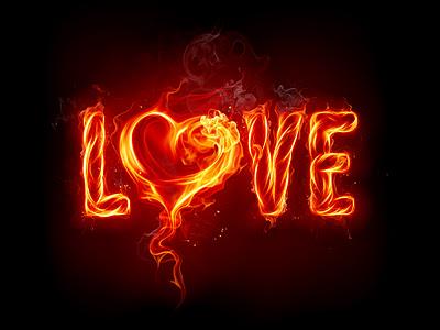 Imagen Love en fuego