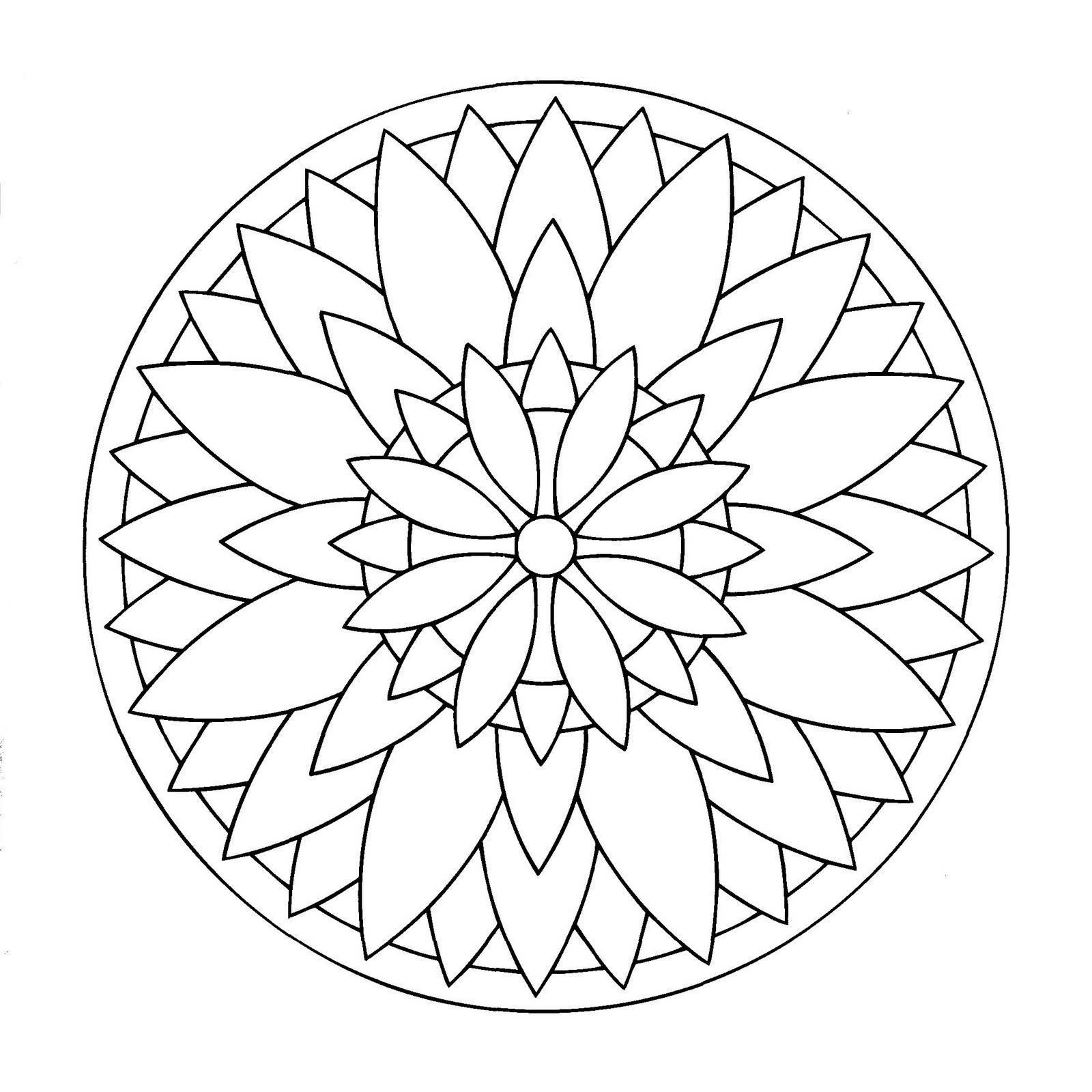 dibujos para colorear y imprimir de mandalas