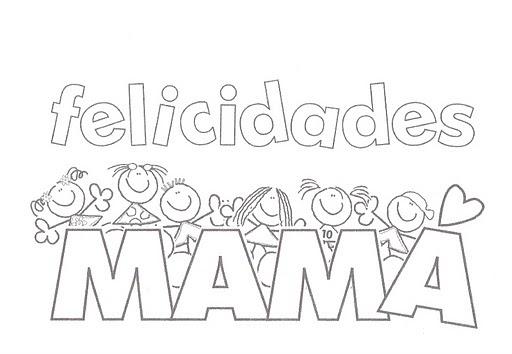 Dibujos Para Pintar E Imprimir Para El Día De La Madre Todo Imágenes