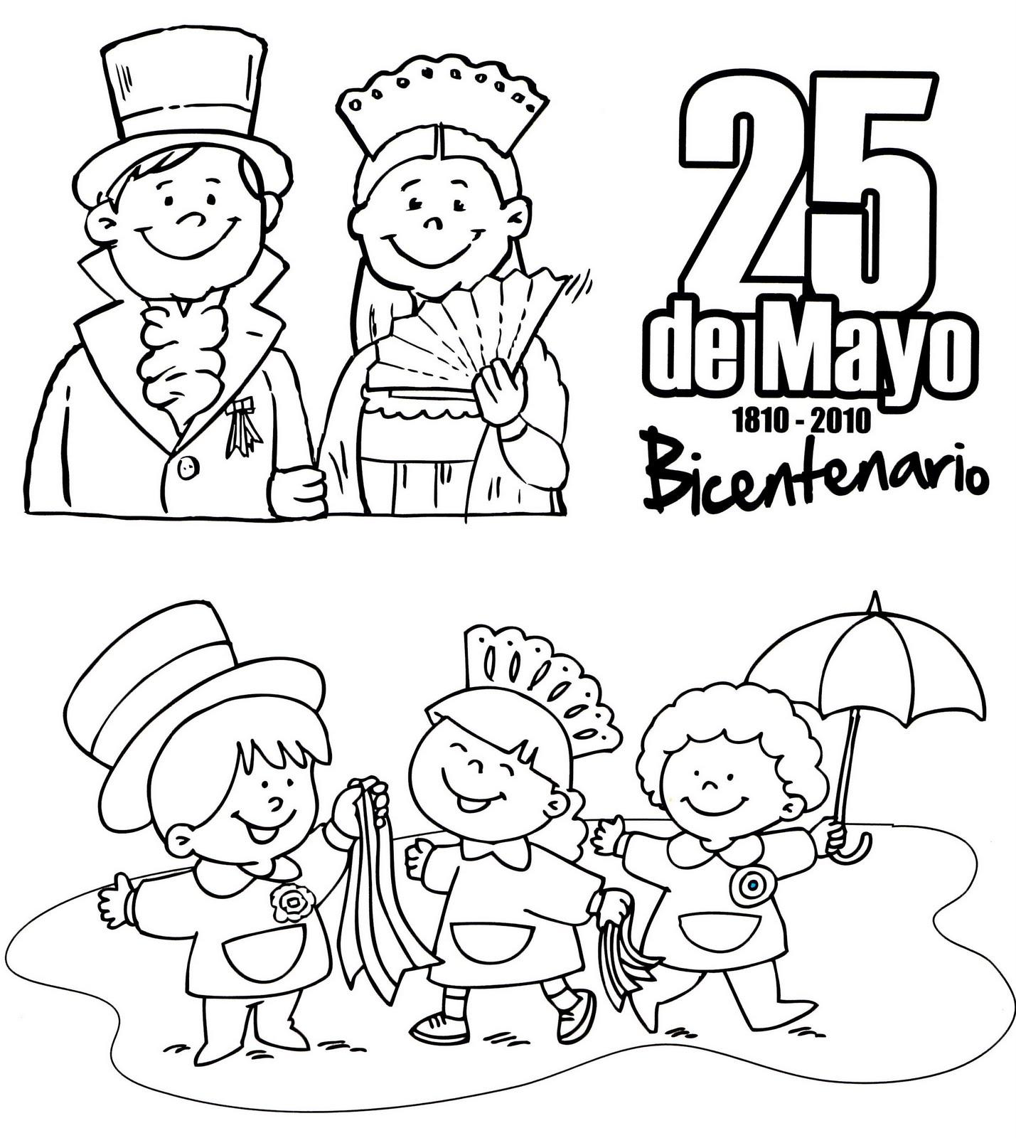 25 De Mayo Para Niños Colorear 24 Todo Imágenes