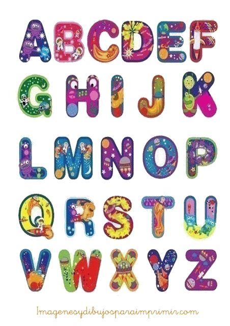Imágenes del abecedario con dibujos de letras para imprimir | Todo ...