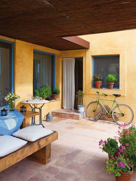 Im genes de fachadas de casas bonitas modernas r sticas Fotos de patios de casas pequenas