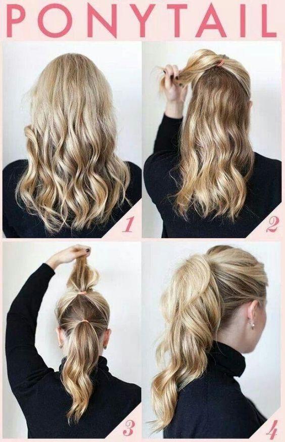 Imágenes De Peinados Fáciles Para Cabello Corto Y Largo