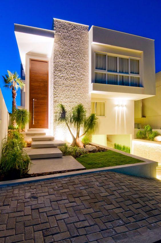 60 bonitas fachadas de casas minimalistas sencillas y for Casa minimalista 2017