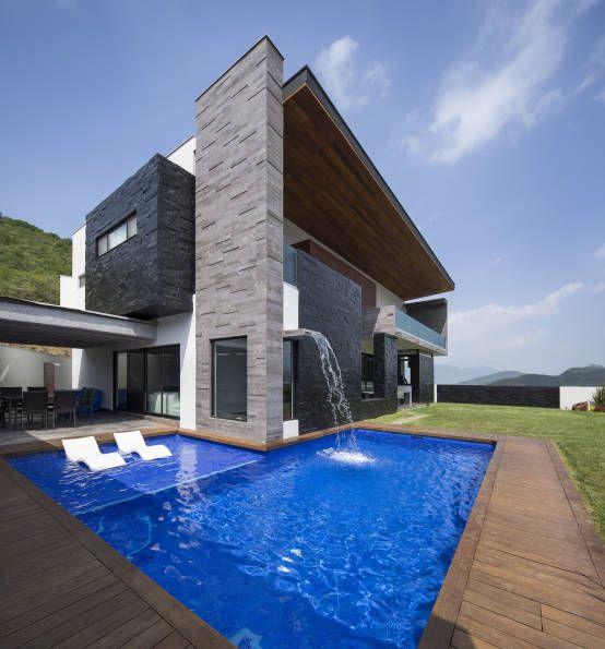 60 bonitas fachadas de casas minimalistas sencillas y for Casa moderna ma calda