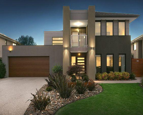 60 bonitas fachadas de casas minimalistas sencillas y for Casa tipo minimalista
