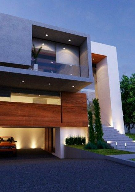 60 bonitas fachadas de casas minimalistas sencillas y for Frentes de casas minimalistas