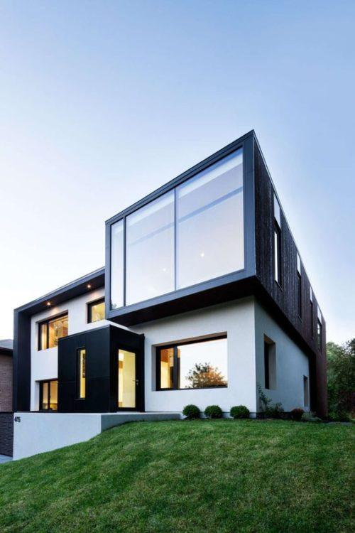 60 bonitas fachadas de casas minimalistas sencillas y for Fachadas oficinas minimalistas