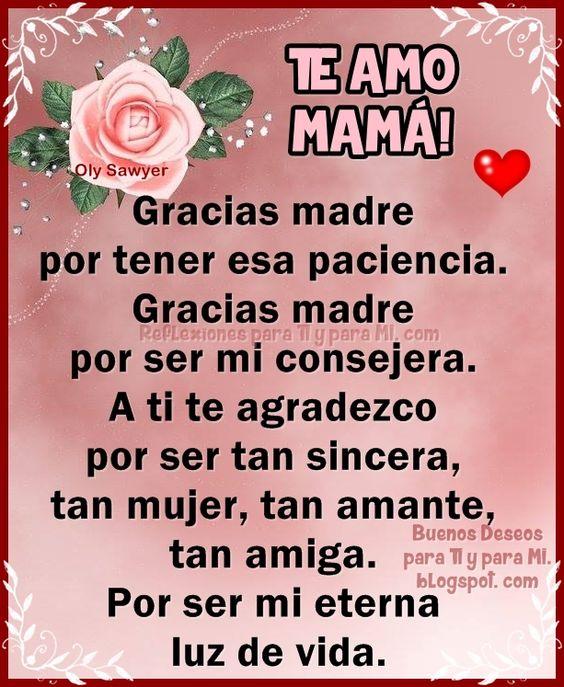 Imagenes De Te Amo Mama Con Frases De Amor Para Dedicar Todo