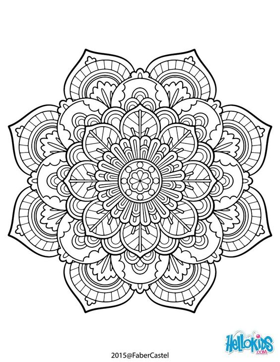 Mandalas en imágenes originales para colorear e imprimir | Todo imágenes