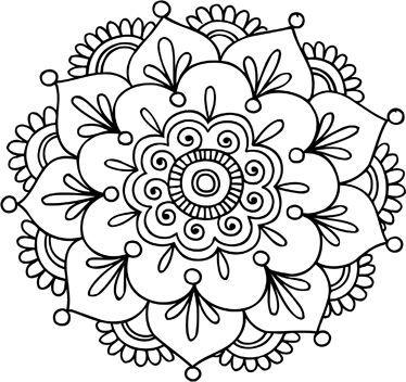 Mandalas en im genes originales para colorear e imprimir todo im genes - Dibujos juveniles para imprimir ...
