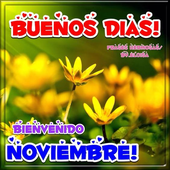 Imágenes Con Frases De Bienvenido Noviembre Y Mensajes