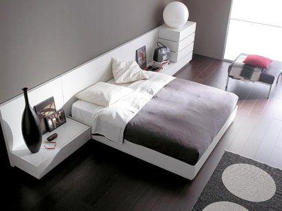 Imgenes de decoracin de dormitorios modernos simples y