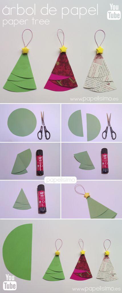 Manualidades hechas con rboles y adornos para navidad - Manualidades faciles cuadros ...
