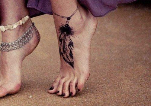 Imágenes de tatuajes en el pie