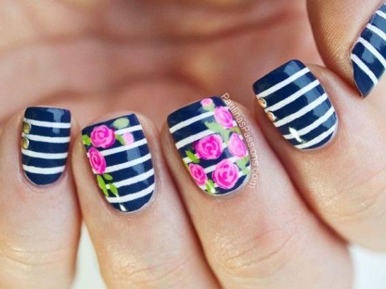 52 Imágenes De Uñas Decoradas Con Diseños De Flores Para