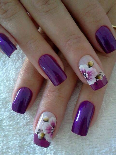 52 Imágenes de uñas decoradas con diseños de flores para manos y ...