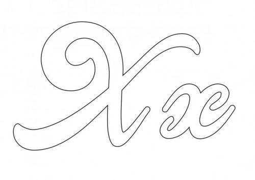 Moldes De Letras Cursivas Grandes Abecedario Para Imprimir Mayúsculas Y Minúsculas Todo Imágenes